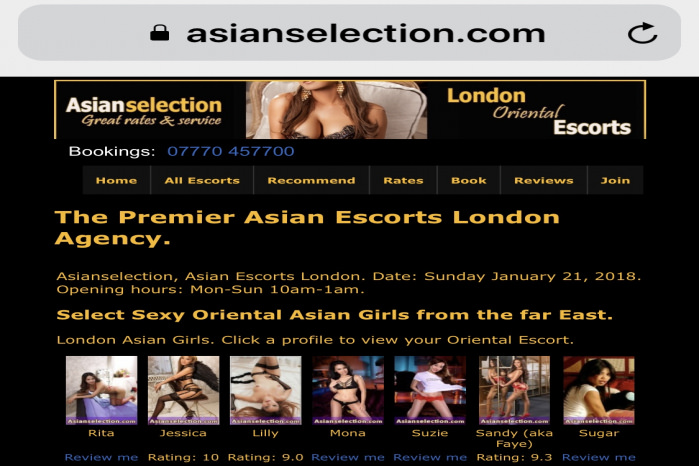 Asian Escorts Asianselection  -   Asian Selection London Oriental