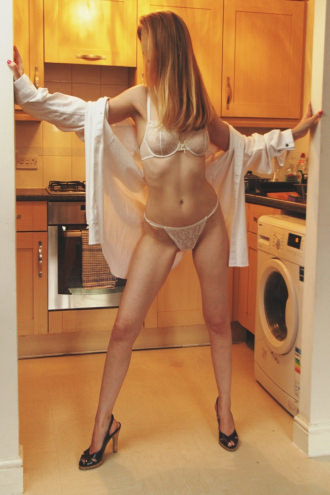 Emma - Slim Blonde in the Kitchen
