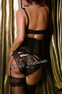Helen Jameson - Black lingerie just for you