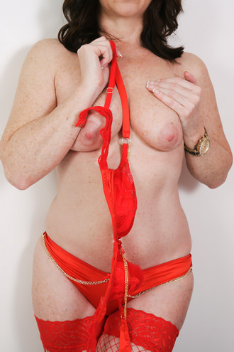 BiSara - Red Lingerie Topless