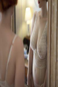 TheCurvyRedhead - white lingerie