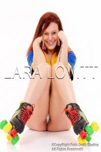 Lara Lovitt - retro rollerskates